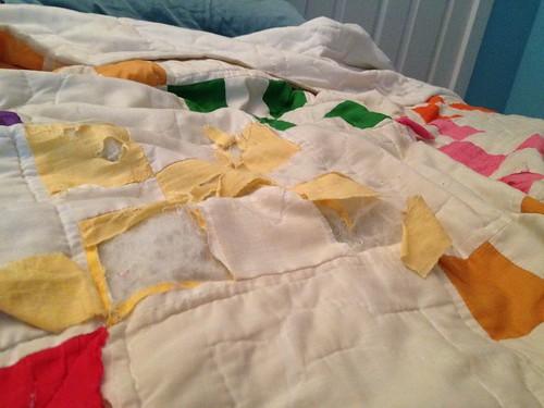 This poor quilt...