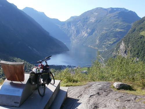 Bike and Geiranger