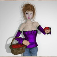 Dilly Dolls - Vivian Halloween Corset - Violet