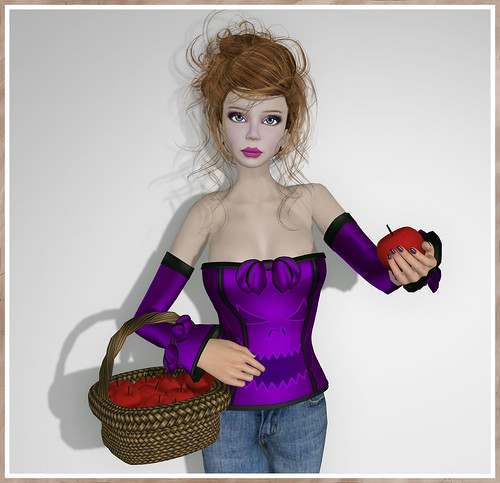 Dilly Dolls - Vivian Halloween Corset - Violet by Tigist Sapphire