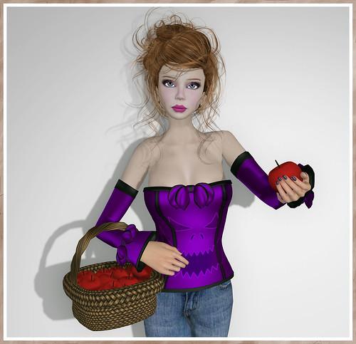Dilly Dolls - Vivian Halloween Corset - Violet by Tigist Sapphire