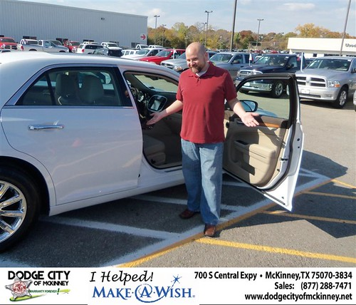 Happy Anniversary to  Smith on your 2012 #Chry #300 from Olvera Jr and everyone at Dodge City of McKinney! #Anniversary by Dodge City McKinney Texas