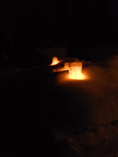 Luminaria in the snow
