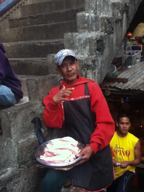 bacon vendor in Baguio
