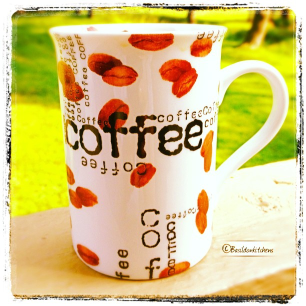 July 6 - fave smell {nothing beats the smell of that first cup of coffee} I'm lucky enough to enjoy it on my porch; with my hubby while listening to the birds!  I am blessed! #TitleFx #fmsphotoaday #coffee #cup #mug