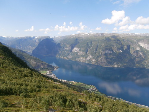 Aurland and fjord