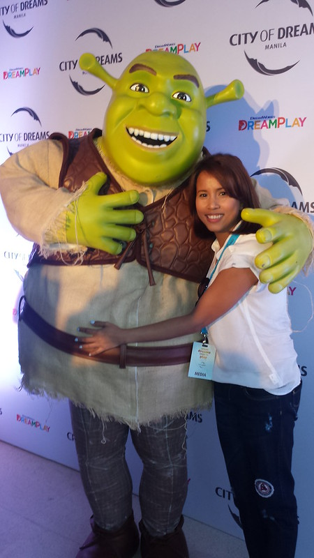 with Shrek at City of Dreams Manila DreamPlay