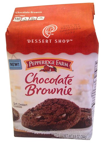 Pepperidge Farm Dessert Shop Chocolate Brownie Soft Dessert Cookies