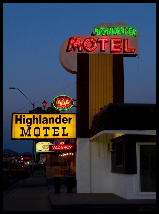 Highlander Motel - Williams, Arizona U.S.A. - April 24, 2014