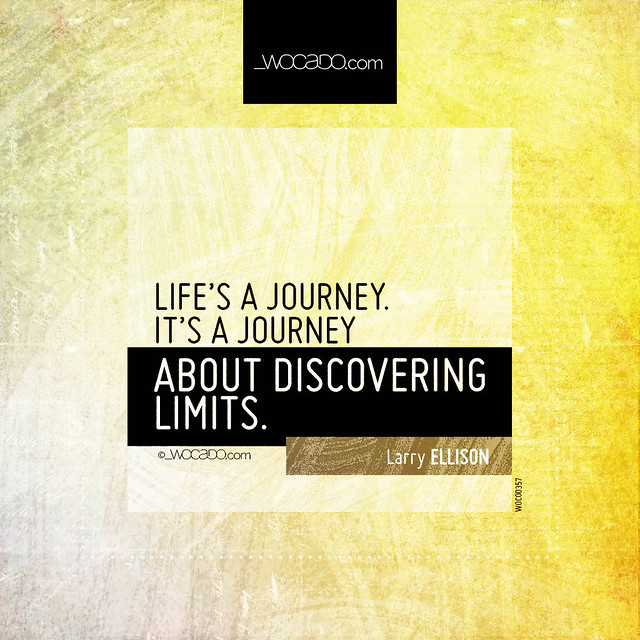 Life's a journey by WOCADO.com