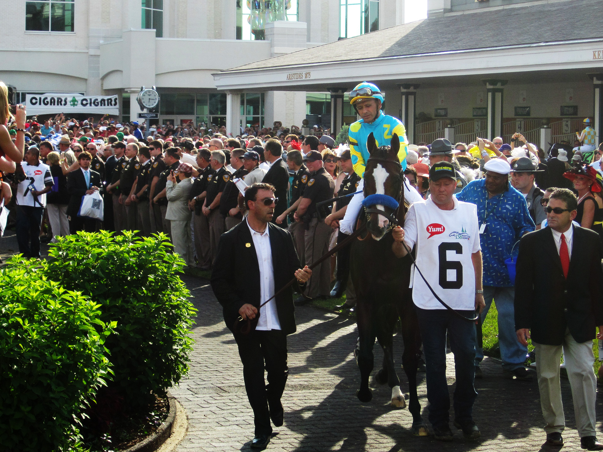 Bodemeister, Mike Smith and their team heading to the starting gate