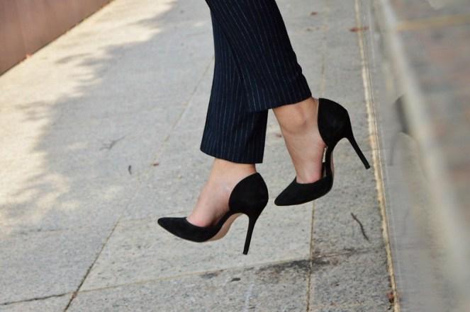 black vamp zara high heels