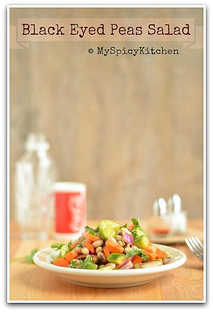 Black eyed peas salad, blogging marathon, no carb salad, low carb salad, Legumes Salad