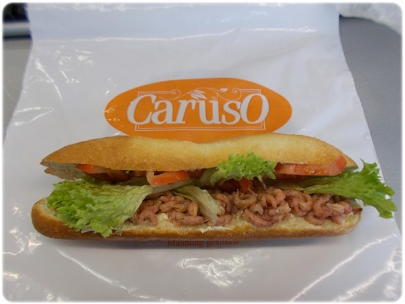 Belegde broodjes Oostende Garnaal Caruso