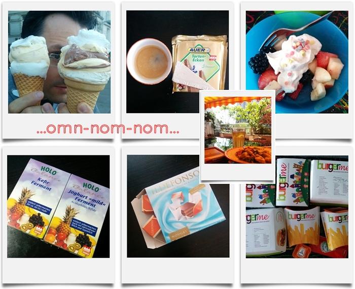 om-nom-nom KW 21/14 | Eis | Auer Tortenecken | Obstsalat | Holo Kefir Ferment Joghurt Ferment | Ildefonso | burgerme