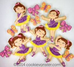Ballerinas with 3 things that I absolutely love- tutus, ribbon bows and butterflies!