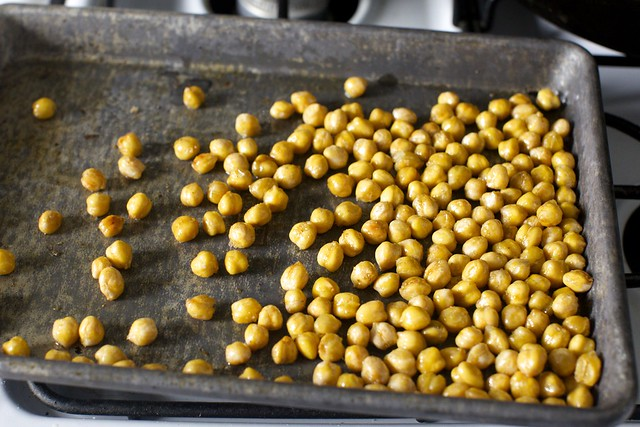 salt and cumin-toasted chickpeas