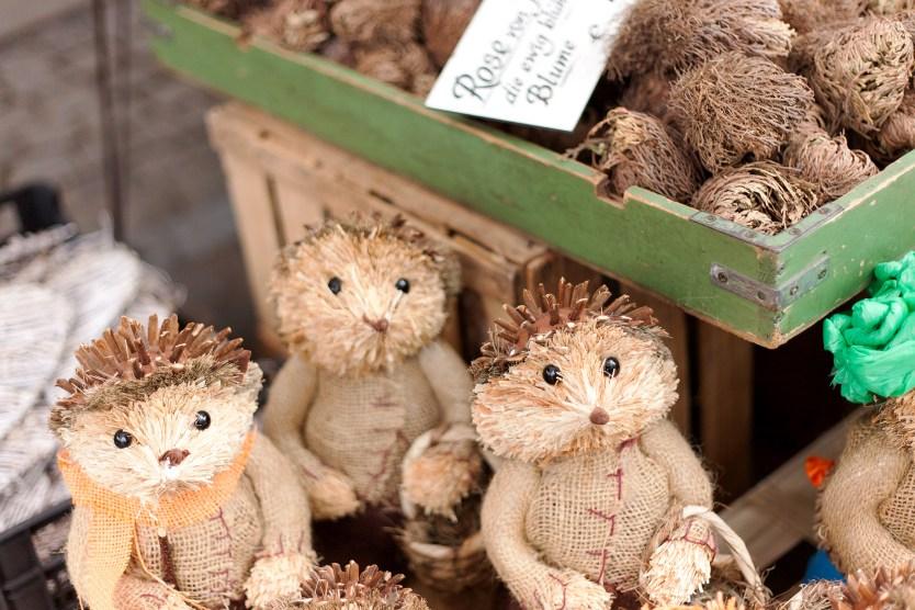 Hedgehogs, Viktualienmarkt, Munich.