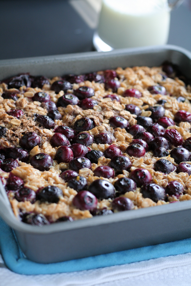 lemon blueberry baked oatmeal recipe [ inthiskitchen.com ]