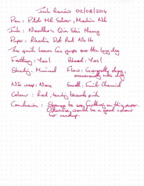 Noodler's Qin Shi Huang - Ink Review - Rhodia Dot Pad