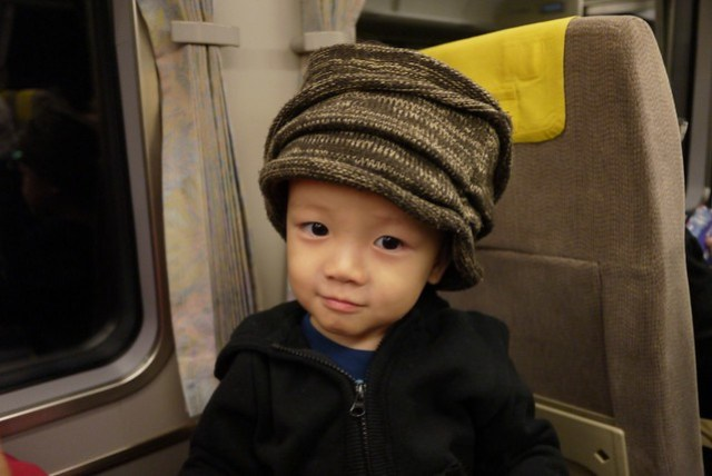 前往京都的JR上