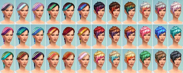 The Sims 4 CAS Demo Hairstyles With Highlights SimsVIP