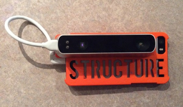 Structure 3D Scanner iPhone 5 case
