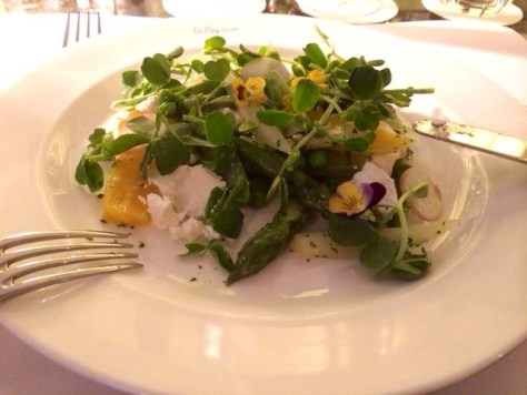Summer vegetable and ricotta salad with wild fennel - Le Caprice - London