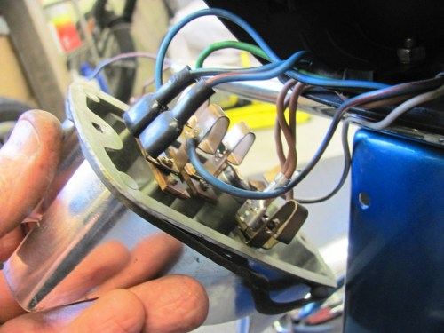 Adding Turn Signal Wires to Spades on Turn Signal Wire Terminals