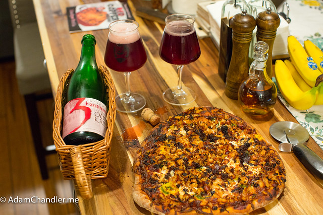 3 Fonteinen Oude Kriek + Homemade Pizza