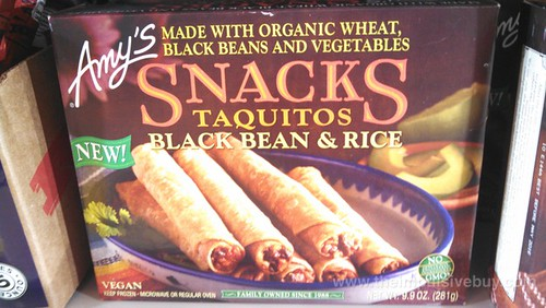 Amy's Snacks Black Bean & Rice Taquitos