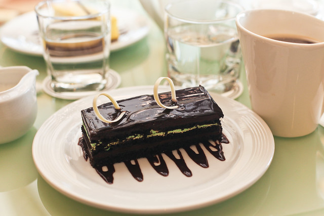 Chocolate-Mint Cake from Taal Vista Hotel, Tagaytay