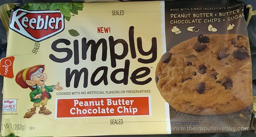 Keebler Simply Made Peanut Butter Chocolate Chips Cookies