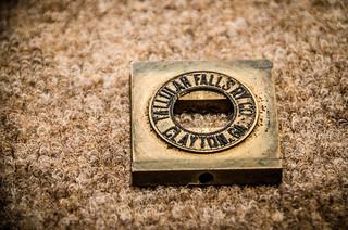 Tallulah Falls Ticket Stamp, Reversed