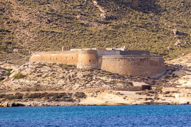 Cabo de Gata Castle of San Felipe at Escullos