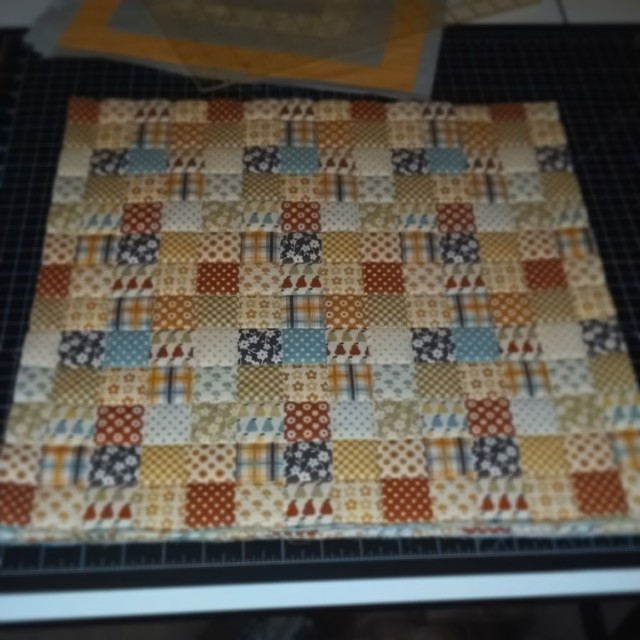Ready for their binding. As soon as I figure out what that is. Ran out of the fabric I was going to use. #quilting