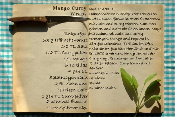Einkaufszettel Mango Curry Wraps by Glasgefluester