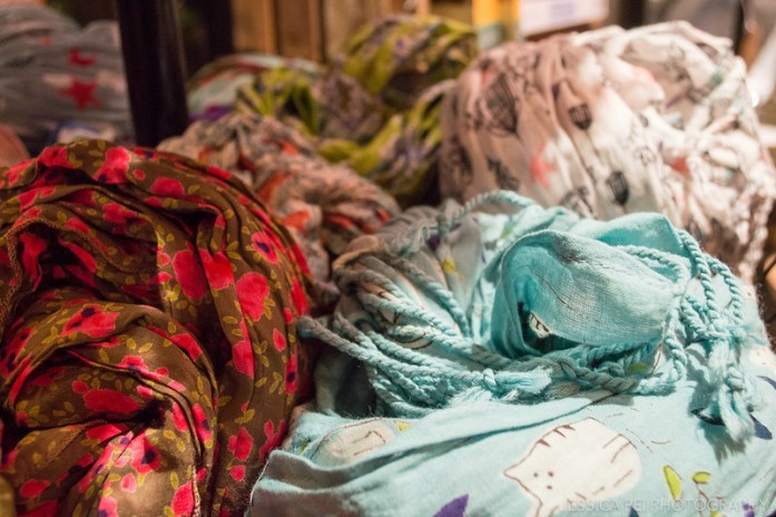 Colorful Print Scarves in Chelsea Market New York
