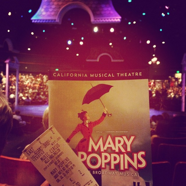 Seeing Mary Poppins at Music Circus with @daniloo and our mom! #lovemusicals