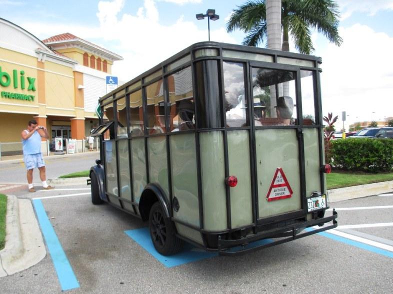 A Publix Shopper Snaps a the Antique Bus, Aug. 2, 2014