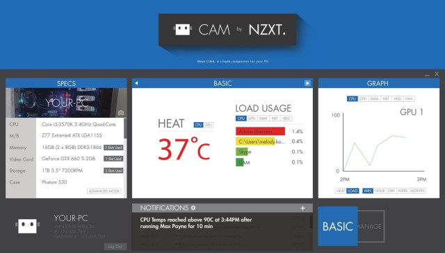 NZXT Introduces Free Hardware Monitoring Application – CAM 3