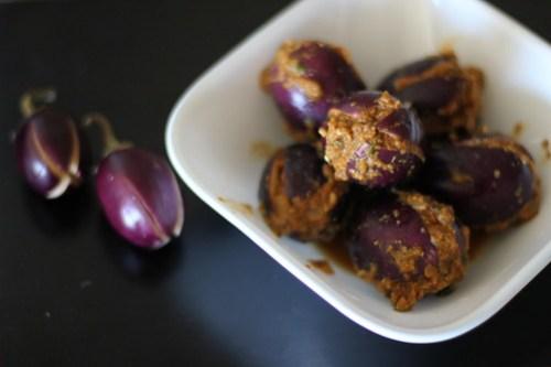 Masala Stuffed Eggplants