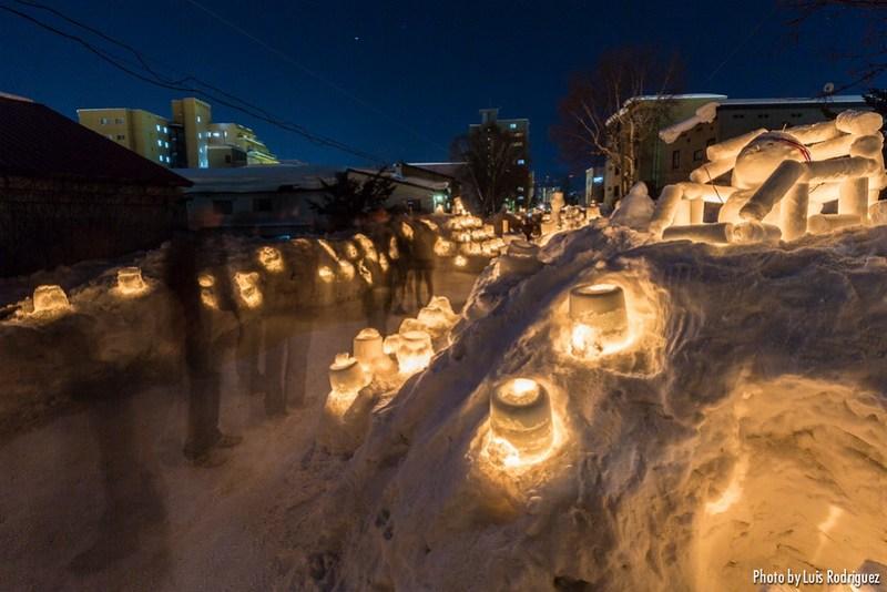 Festival de invierno Otaru Akari no Michi en Hokkaido