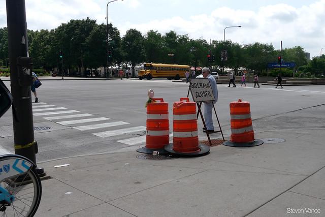 Crosswalk but no signal at Michigan/Washington