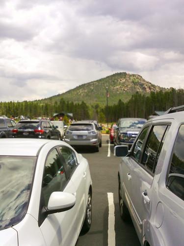 Overflow parking lot full