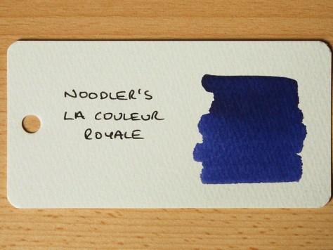 Noodler's La Couleur Royale - Ink Review - Word Card