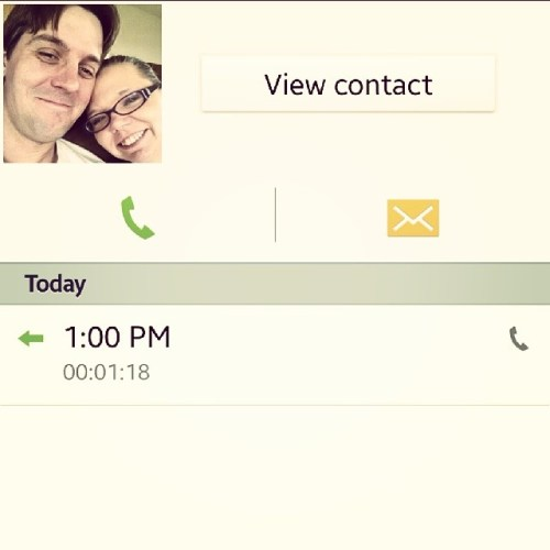 At 1pm, I get to talk to my husband #dayinthelife