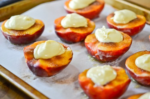 Cheesecake-Stuffed Peaches-9