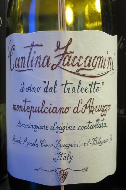 """Zaccagnini Montepulciano d'Abruzzo 2012 il vino """"dal Tralcetto"""""""