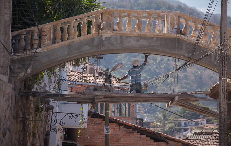 Repairman Under the Bridge - Puerto Vallarta, Mexico